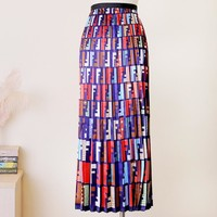Fendi high quality New Fashion Multicolor More Letter Print Contrast Color Skirt Women