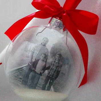 Photo Christmas Ornament, Christmas Ornaments,first Ornament, Personalized Ornaments, Glass Ornaments, Baby's First Christmas Ornament