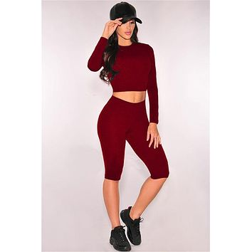 Workout Crop top Tracksuits