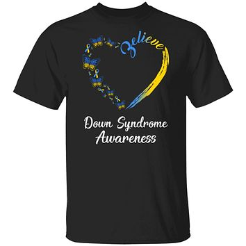 Butterfly Believe Down Syndrome Awareness Ribbon Gifts