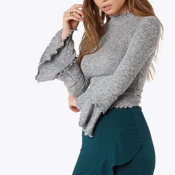 In Tiers Rib Knit Top