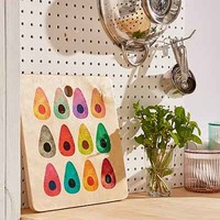 Elisabeth Fredriksson for DENY Rainbow Avocado Cutting Board - Urban Outfitters