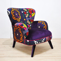 Suzani armchair - blue love