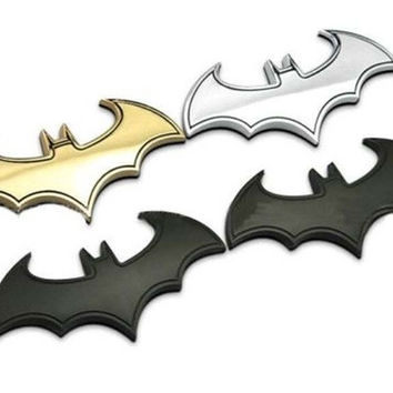 Golden 3D Metal bat auto logo car sticker metal batman badge emblem tail decal = 1928015044