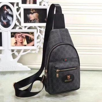 Gucci New Fashion Women Leather Backpack Satchel Crossbody