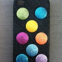 Glitter Button IPhone 4 4s Hard Cover Case | Luulla