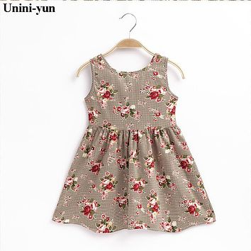 2017 Spring and autumn 18m8t6t baby clothing floral lovely princess newborn baby dress infant dresses vestido infantil BABY GIRL