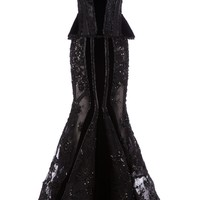 Nedo By Nedret Taciroglu Embellished Corset Gown