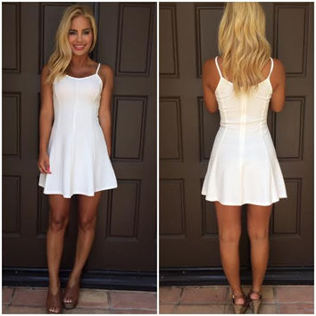 High Tide Skater Dress - WHITE