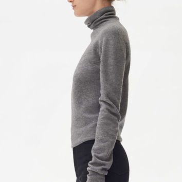 TURTLENECK SWEATER IN BOILED WOOL