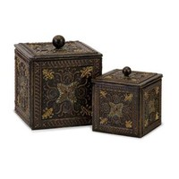 IMAX 12338-2 Arabian Nights Lidded Boxes, Set of Two