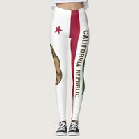 Leggings with flag of California State, USA