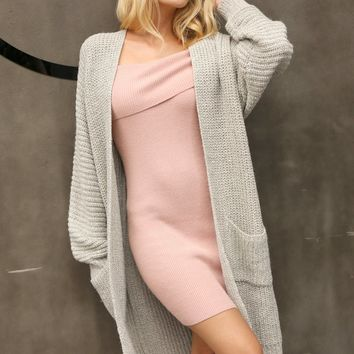Extra Long Knit Cardigan