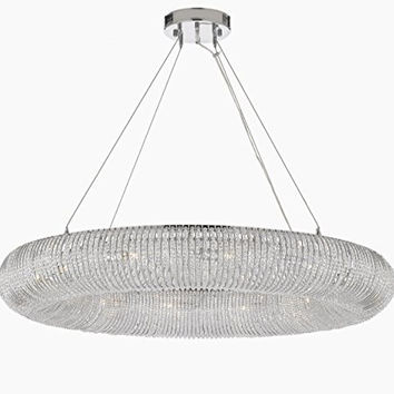 "Crystal Halo Chandelier Modern / Contemporary Lighting Floating Orb Chandelier 41"" Wide - Good For Dining Room, Foyer, Entryway, Family Room And More! - Gb104-3132/12"