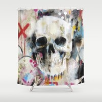 Skull Shower Curtain by FAMOUS WHEN DEAD