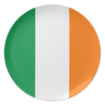 Irish Flag Plate
