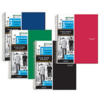 Five Star 50percent Recycled Notebook 8 12 x 11 3 Subjects College Ruled 150 Sheets by Office Depot