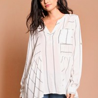 Girl Next Door Striped Blouse | Threadsence
