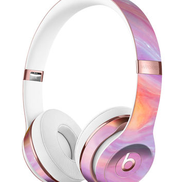 Marbleized Pink and Purple Paradise V2 Full-Body Skin Kit for the Beats by Dre Solo 3 Wireless Headphones