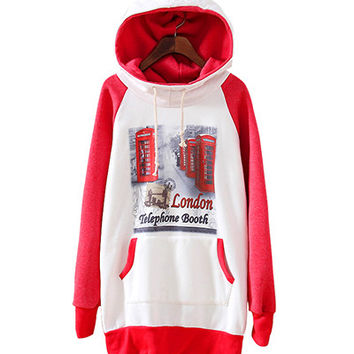 London Booth Print Hoodie Sweater