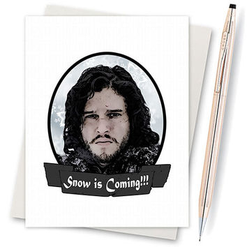 Game of Thrones Jon Snow Christmas Card. Funny Christmas Card. Christmas Card Funny. Handmade Christmas. Christmas Gifts. Cute Boyfriend.