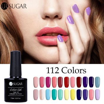 UR SUGAR UV Gel Polish Nail Art DIY Design 7.5ml Soak off Long Lasting UV Nail Gel Polish Top Coat Varnish Paint Color Gel