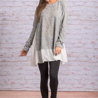 Longing To Be Tunic, Heather Gray