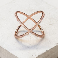 X Ring - Rose Gold