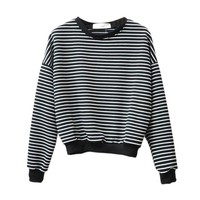 Harajuku Striped Hoody Sweatshirts