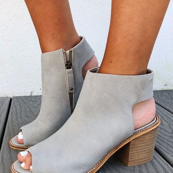 Up All Night Booties: Grey