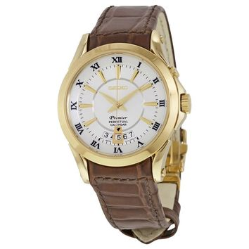 Seiko Premier Gold-tone Stainless Steel Mens Watch SNQ118