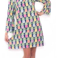 Simply Southern Printed Bell Sleeve Dress- Tasty South