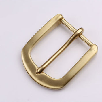 40mm Copper Free Single Prong Solid Brass Horseshoe Belt Buckle DIY Leathercraft Metal Accessories 409