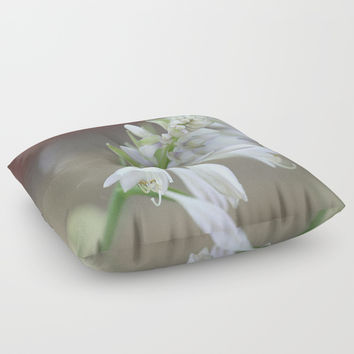 Foxglove Penstemon Floor Pillow by Theresa Campbell D'August Art