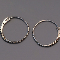 Ouroboros Snake Hoops, Sterling Silver Snake Earrings, Serpent Hoops, Snake Eating Its Tail, 925 Silver Snake Hoop Earings
