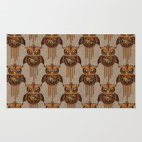 Steampunk Owl Vintage Style Area & Throw Rug by Bluedarkat Lem | Society6