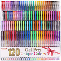 Shuttle Art - 120 Unique Colors (No Duplicates) Gel Pen Set