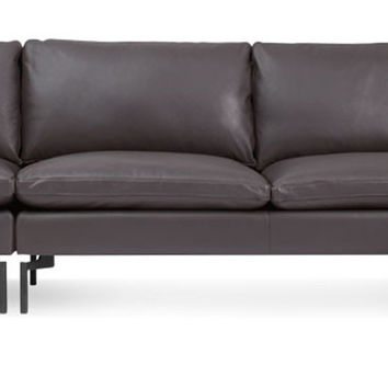 New Standard Right Leather Sectional - Medium