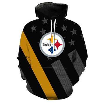 Pittsburgh Steelers Hoodie Fashion 3D hooded pullover streetwear NFL American football sweatshirt