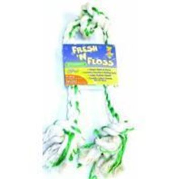 Booda Products - Fresh-n-floss 3-knot Rope Bone Dog Toy