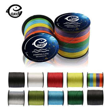 QXO Braided Wire Materials Fishing Peche PE Fishing Line Multifilament 4 Stands Tippet 100m 300m 500m Goods For Fishing Hercules