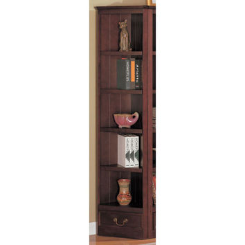 Coaster Furniture 800376 Cherry Traditional Corner Bookcase