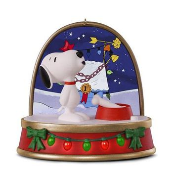 A Charlie Brown Christmas Snoopy Ornament With Sound and Light