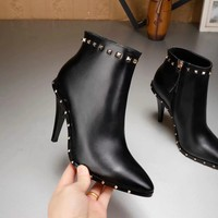 Valentino Women Fashion Casual Punk Boots Shoes