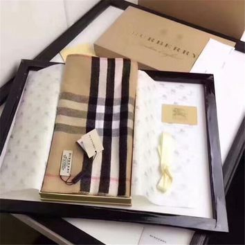 Burberry Keep Warm Scarf Embroidery Scarves Winter Wool Shawl Lattice Style 4