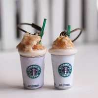Starbucks Latte Ice Cream Dangle Earrings