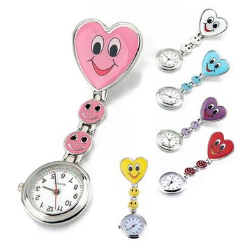 Hot Sales Nurse Pocket watch  Lovely Heart  Smile Face With Medical Nurses  Fashion Quartz Watches  LXH