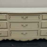 "Clearance:  Free Chalk Paint Customization Vintage French Provincial Dresser by Unagusta ""Cote D'Azure"""
