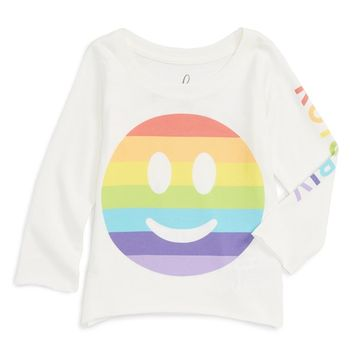Peek 'ROY G BIV' Graphic Print Long Sleeve Tee (Baby Girls) | Nordstrom