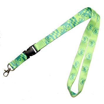 Maryland Flag & Crab (Green) / Lanyard